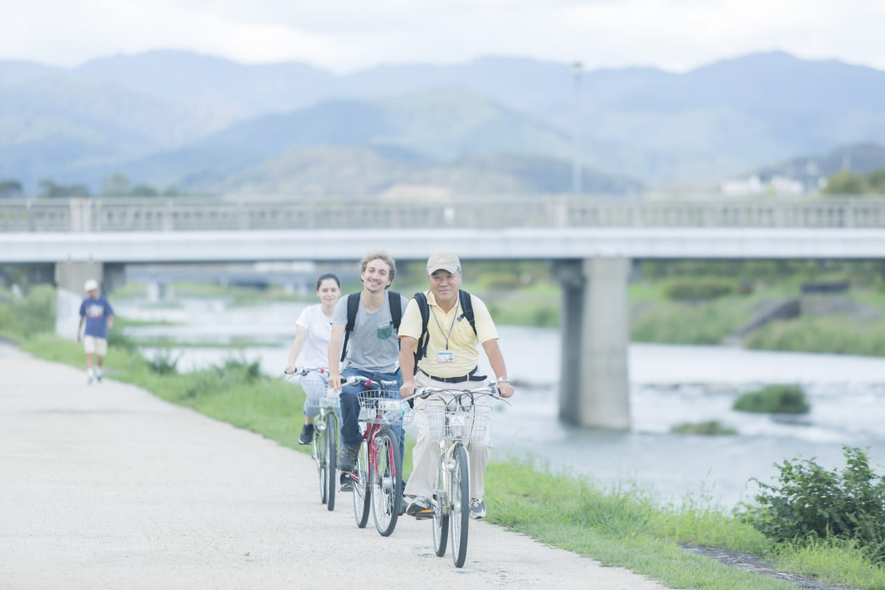 Kyoto Back street Cycling Tour with English speaking guide